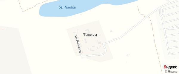 Цветочная улица на карте поселка Тинаки 2-ые Астраханской области с номерами домов