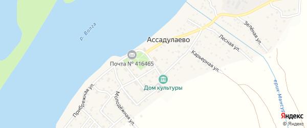 Парковая улица на карте поселка Ассадулаево Астраханской области с номерами домов