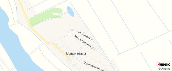 Вишневая улица на карте Вишневого поселка Астраханской области с номерами домов