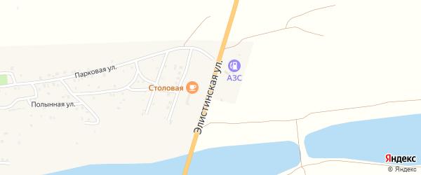 Элистинская улица на карте Мирного поселка Астраханской области с номерами домов