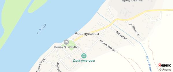 Улица Астраханские сады на карте поселка Ассадулаево Астраханской области с номерами домов