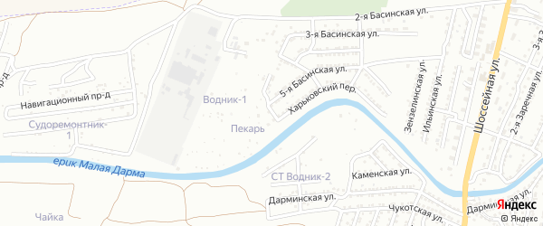 4-й Ильинский переулок на карте Астрахани с номерами домов