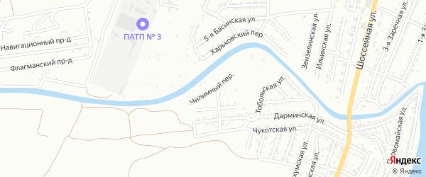 Чилимный переулок на карте Астрахани с номерами домов