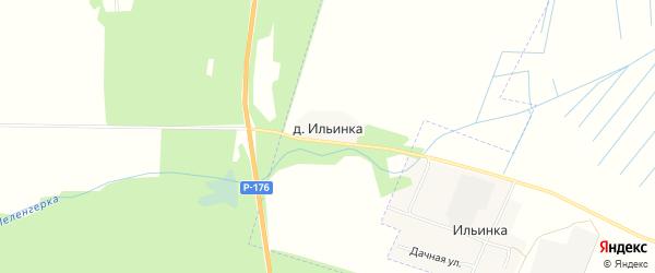 Карта деревни Ильинка (Марковский с/п) в Марий Эл с улицами и номерами домов