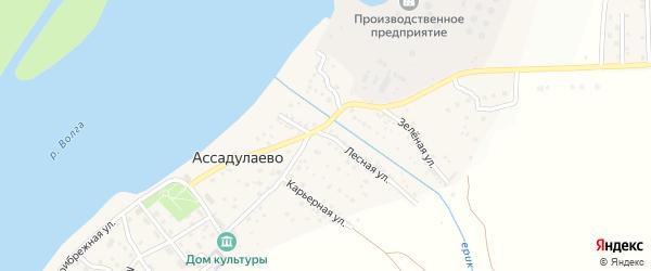 Лесная улица на карте поселка Ассадулаево Астраханской области с номерами домов