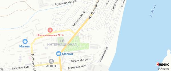 Базарная площадь на карте Астрахани с номерами домов