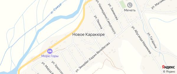 Девятнадцатая улица на карте села Нового Каракюре с номерами домов