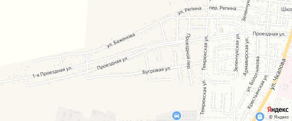 Конечный переулок на карте села Старокучергановка Астраханской области с номерами домов