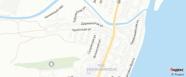 Сухумская улица на карте Астрахани с номерами домов