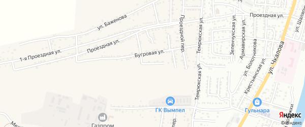 Жигулевская улица на карте села Старокучергановка Астраханской области с номерами домов
