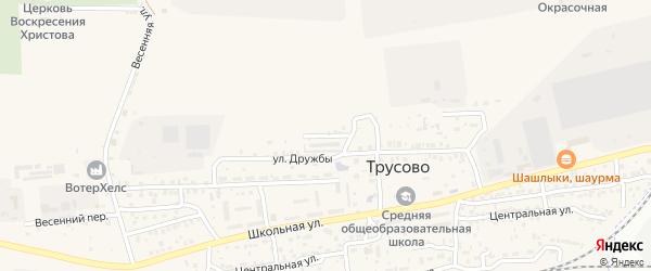 Садовая улица на карте поселка Трусово Астраханской области с номерами домов