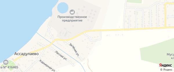 Тополиная улица на карте поселка Ассадулаево Астраханской области с номерами домов