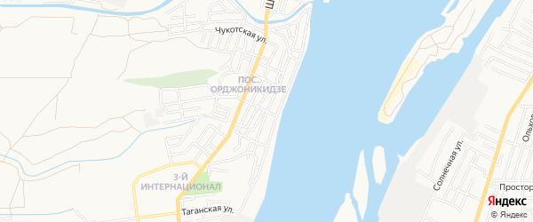 Центральный ГСК на карте Астрахани с номерами домов