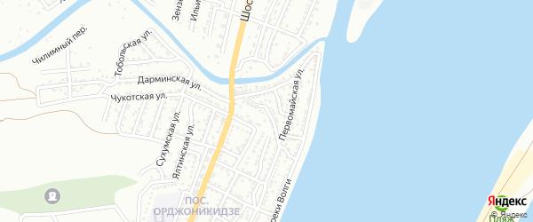 Луцкая улица на карте Астрахани с номерами домов