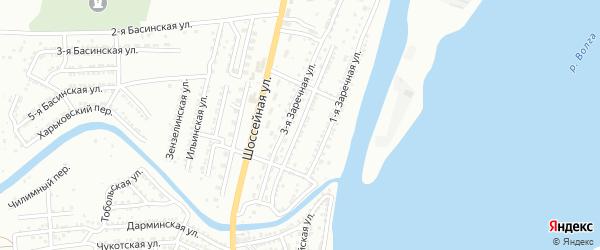Заречная 2-я улица на карте Астрахани с номерами домов