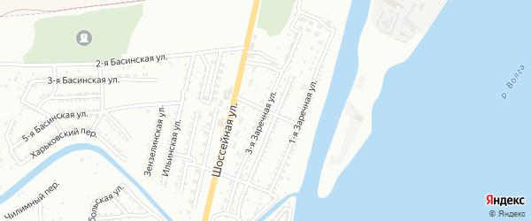 Рыбацкий 1-й переулок на карте Астрахани с номерами домов