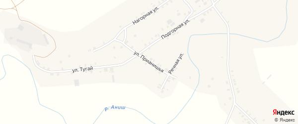 Прианишья улица на карте села Байгулово с номерами домов