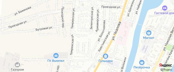 Двинский переулок на карте Астрахани с номерами домов