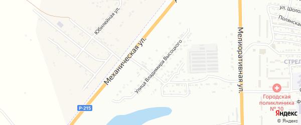 Улица Губернатора Андреевского на карте Астрахани с номерами домов
