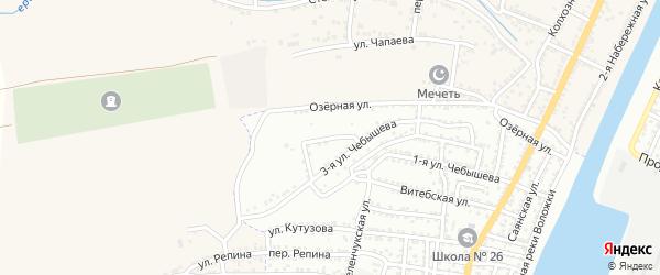 Тепличный переулок на карте Астрахани с номерами домов