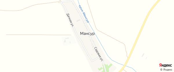 Дачная улица на карте поселка Мансура Астраханской области с номерами домов