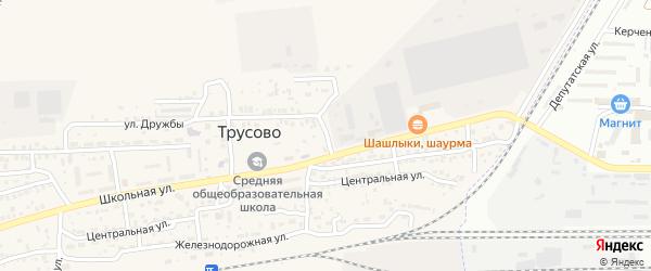 Заводской переулок на карте поселка Трусово Астраханской области с номерами домов