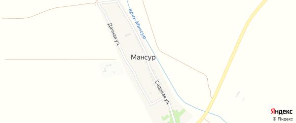 Садовая улица на карте поселка Мансура с номерами домов
