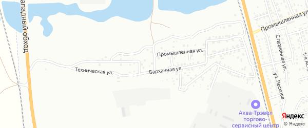 4-й Промышленный переулок на карте Астрахани с номерами домов