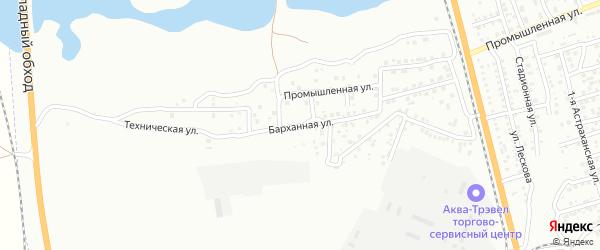 Барханная улица на карте Астрахани с номерами домов
