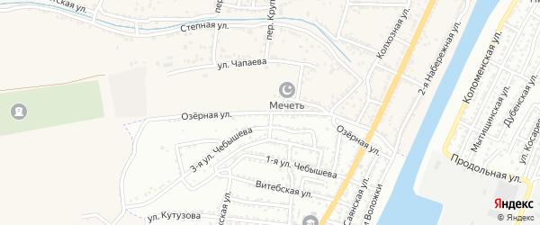 Озерная улица на карте Астрахани с номерами домов