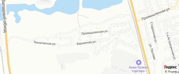 3-й Промышленный переулок на карте Астрахани с номерами домов