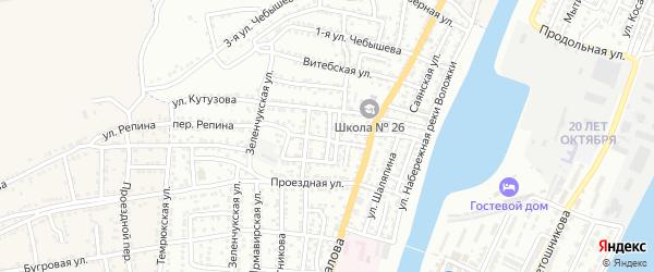 Минская 2-я улица на карте Астрахани с номерами домов