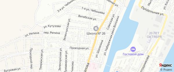 1-я Минская улица на карте Астрахани с номерами домов
