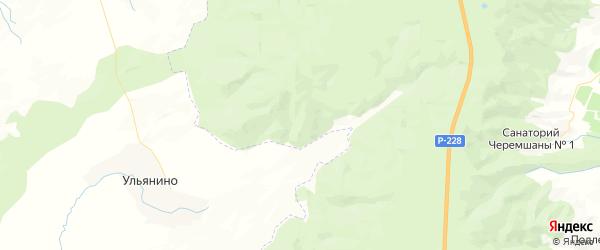 Карта территории Соснова-Мазинского МО Саратовской области с районами, улицами и номерами домов