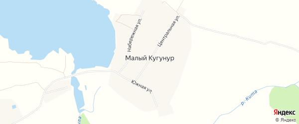 Карта деревни Малого Кугунура в Марий Эл с улицами и номерами домов