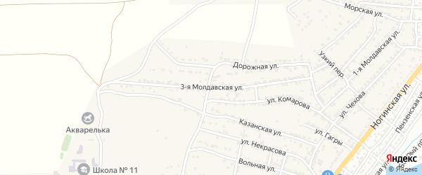 Молдавская 3-я улица на карте села Старокучергановка Астраханской области с номерами домов