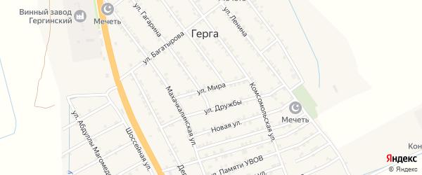 Улица Мира на карте села Герги с номерами домов