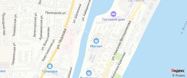 Торговая площадь на карте Астрахани с номерами домов