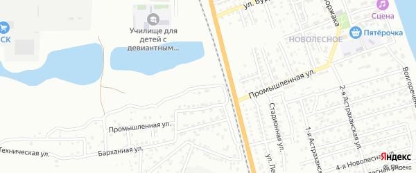 Улица Фаворского на карте Астрахани с номерами домов