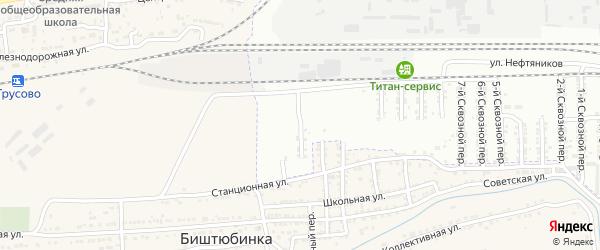 Сквозной 15-й переулок на карте Астрахани с номерами домов