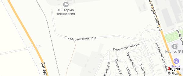 Маршанский 4-й проезд на карте Астрахани с номерами домов