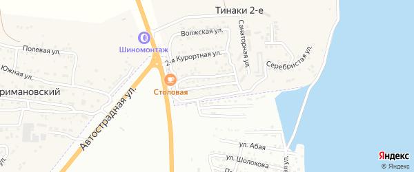 Курортная улица на карте поселка Тинаки 2-ые Астраханской области с номерами домов