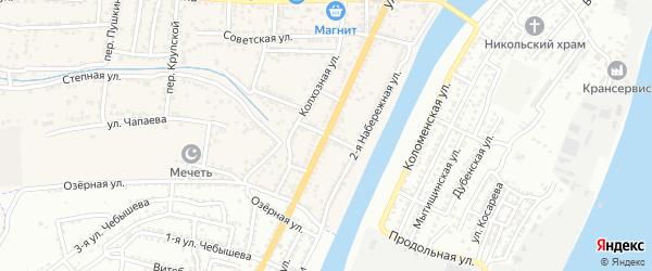 Шоссейный переулок на карте села Старокучергановка Астраханской области с номерами домов