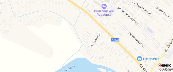 Улица Пушкина на карте Ильинско-Подомского села Архангельской области с номерами домов