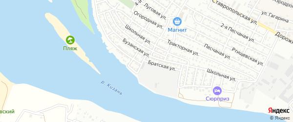 Братская улица на карте Астрахани с номерами домов
