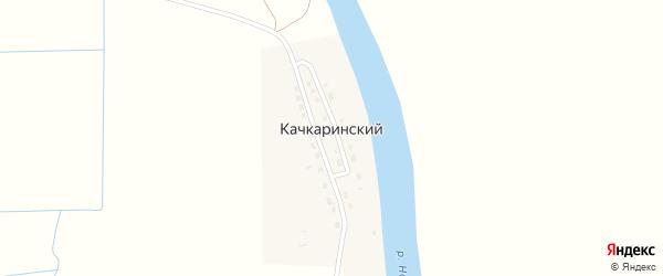 Садовая улица на карте Качкаринского поселка Астраханской области с номерами домов