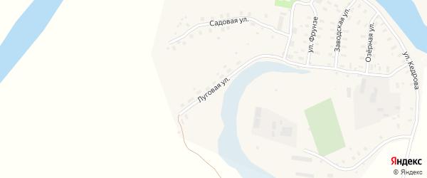 Луговая улица на карте Ильинско-Подомского села Архангельской области с номерами домов