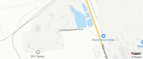 Маршанский 3-й проезд на карте Астрахани с номерами домов