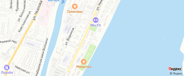 Улица Капитана Рсмухамбетова на карте Астрахани с номерами домов