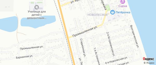 Стадионная улица на карте Астрахани с номерами домов